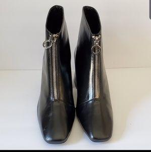 Zara chunky heel booties US 5